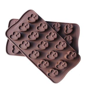 Silicone Double Heart Chocolate Mould