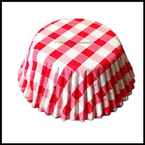 Chocolate Liners Red Checker Board_7 cm