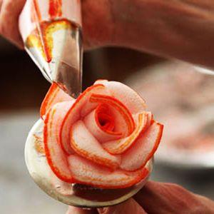 Rose petal nozzle tip