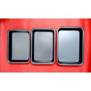 Non-stick rectangular cake pans (set of 3) (big)