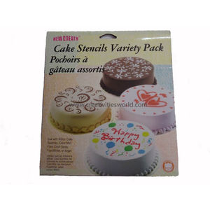 Cake Stencils- pack of 4 designs