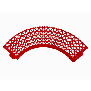 RED SMALL HEART LINER (SET OF 10)