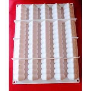 5 Modular Flex Log Entremet Silicone Mould