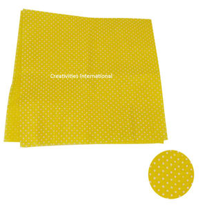 Yellow Color Polka Dot Tissue Sheet