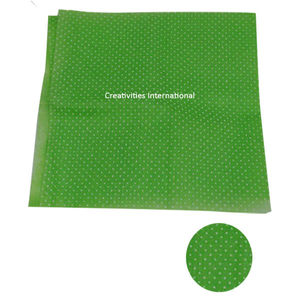 Green color polka dot tissue sheet