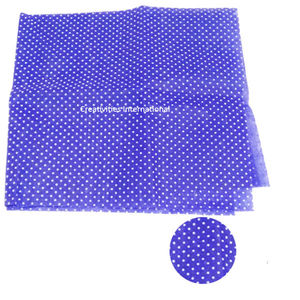 Purple color polka dot tissue sheet