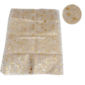 Self star printed White tissue sheet
