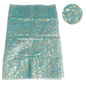 Self star printed blue tissue sheet
