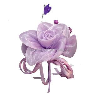 Purple Rose   Butterfly Satin Flower