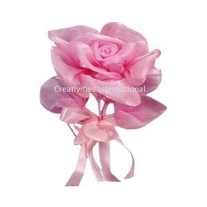 Pink Rose satin Flowers