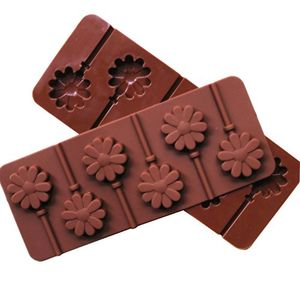 Silicone Lollipop Flower Shape Chocolate Candy mold