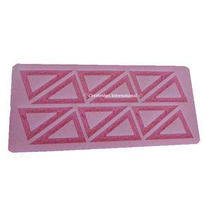 Triangle and Design Chocolate Garnishing mat