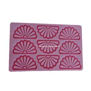 Round Flower Silicone Chocolate Garnishing mat