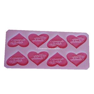 Happy Birthday Heart silicone Chocolate garnishing mat