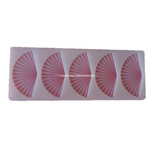 5 in 1 Fan Silicone chocolate garnishing mat