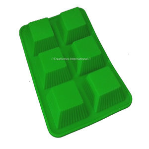 Square liners cupcake silicone mold