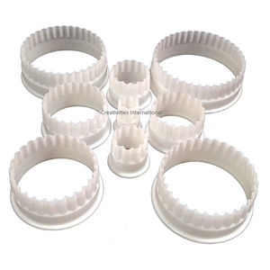 Circle Frill Cutter Set Heavy Plastic (Set of 9)