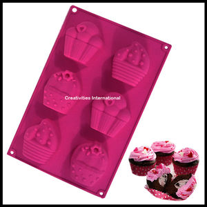 Decorated Cupcake Silicone muffin mould