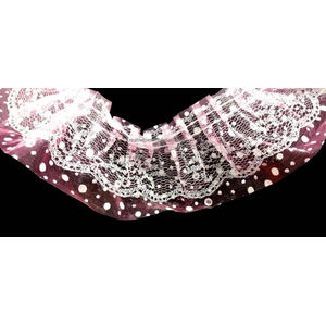 Baby Shower Polka Dot Pink Color Frill Ribbon