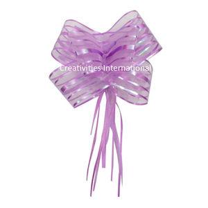 Purple Net Bow Big