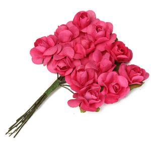 Pink Rose paper flower Bunch