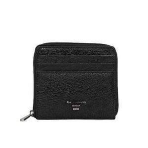 Da Milano Ca-J-0717 Black Matrix Leather Card Case