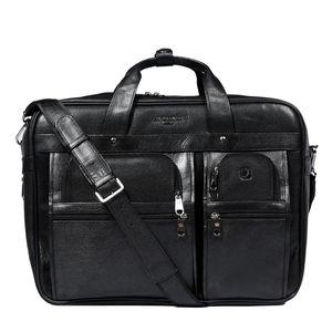 Da Milano Men's Cb-6164C Black Matrix Computer Bag