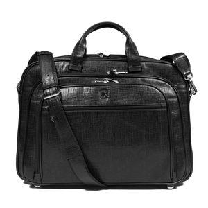 Da Milano Men's Cb-6217B Black Matrix Computer Bag