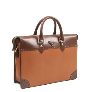 1ce35ba7c819 ... Da Milano Cognac   Brown Laptop Bag