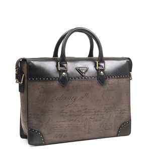 3562ed204da9 ... Da Milano Grey   Black Laptop Bag