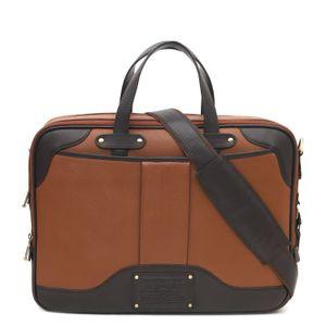 Da Milano Cognac Brown Laptop Bag