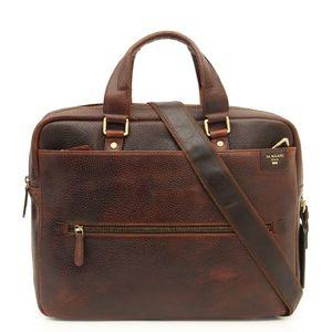 Da Milano Brown Laptop Bag