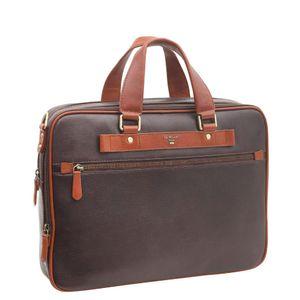 Da Milano Brown Cognac Laptop Bag
