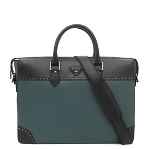 0fc225ca46 Da Milano Green   Black Laptop Bag ...