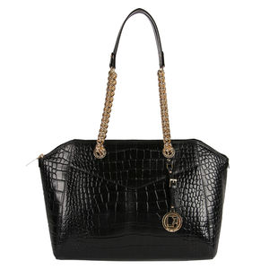 61c54fe88f Da Milano Black Long Handle Bag