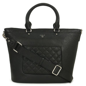 ebb688c887 ... Da Milano Black Top Handle Bag