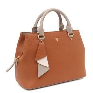Da Milano Cognac Satchel Bag
