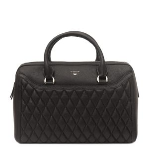 2a5aba9c9a Da Milano Black Satchel Bag ...