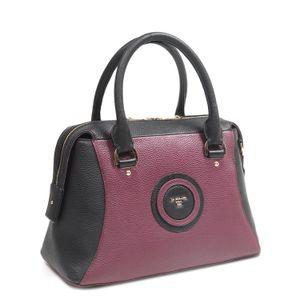 ... Da Milano Black   Purple Satchel Bag 6c1fc4c7c4