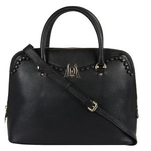 Da Milano Lb-4205 Black Top Handle Bag