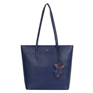 Da Milano Lb-4215 Blue Shopper Bag
