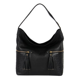 Da Milano Lb-4217 Black Hobo Bag