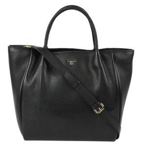 Da Milano Black Top Handle Bag