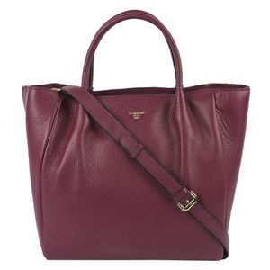 Da Milano Purple Top Handle Bag