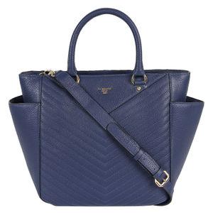 Da Milano Blue Top Handle Bag