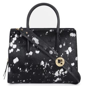 e2704cb52a Da Milano Black Silver Top Handle Bag ...