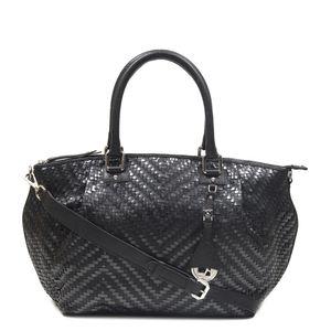 851864ad3f97 Da Milano Black   Grey Satchel Bag ...