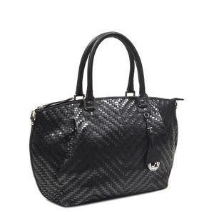 2dda1207ddc7 ... Da Milano Black   Grey Satchel Bag