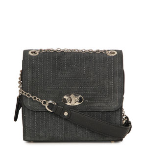 1b5ffe0f15 Da Milano Black Sling Bag ...