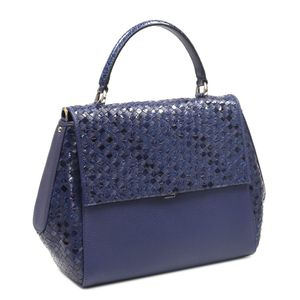 935cc0ade0e1 Da Milano Blue Satchel Bag · Da Milano Blue Satchel Bag